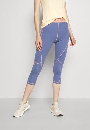 3 BAR TECHFIT AEROREADY TIGHT - Pantaloncini 3/4 - orbit violet/ambient blush
