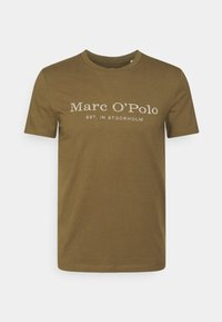 Marc O'Polo - SHORT SLEEVE CLASSIC - T-shirt con stampa - marsh brown - 0