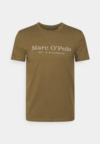 SHORT SLEEVE CLASSIC - T-shirt con stampa - marsh brown