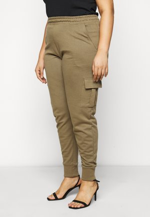 UTILITY POCKET HIGH WAISTED - Pantaloni sportivi - khaki