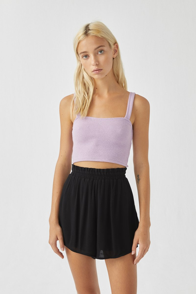 PULL&BEAR - Top - purple