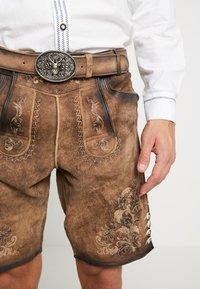 Krüger Dirndl - Kožené kalhoty - light brown - 5