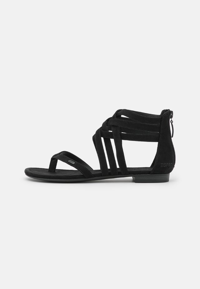 SELMA STRAP  - T-bar sandals - black