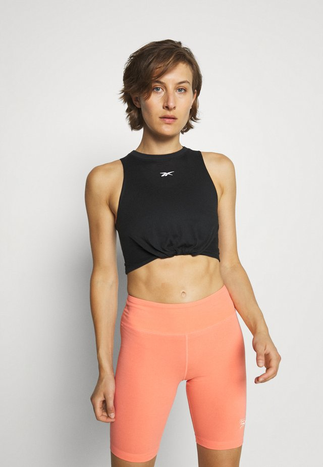 GATHERED SOLID TANK - Top - black
