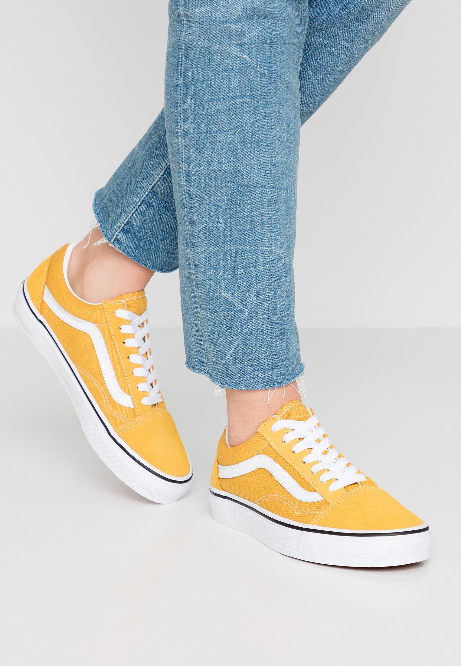 Vans OLD SKOOL - Baskets basses - yolk yellow/true white/jaune ...