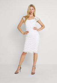 WAL G. - SABRIA MIDI DRESS - Cocktail dress / Party dress - white - 1