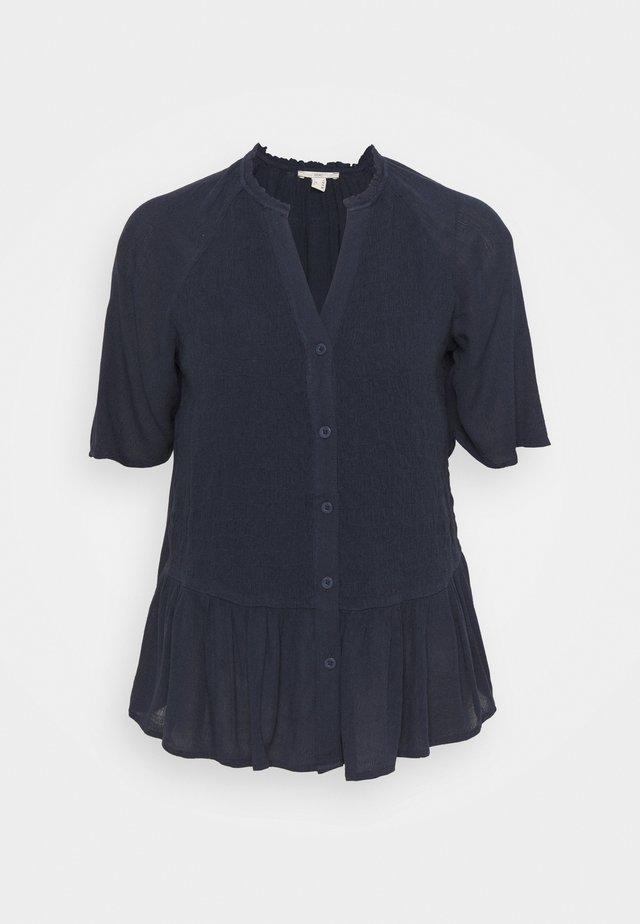 BLOUSE - Button-down blouse - dark blue