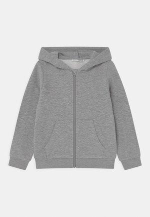 NKFLENA - Sweater met rits - grey melange
