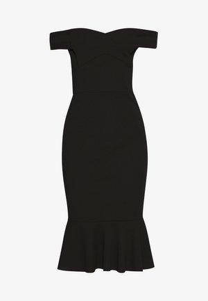 BARDOT FRILL HEM DRESS - Cocktailkjoler / festkjoler - black