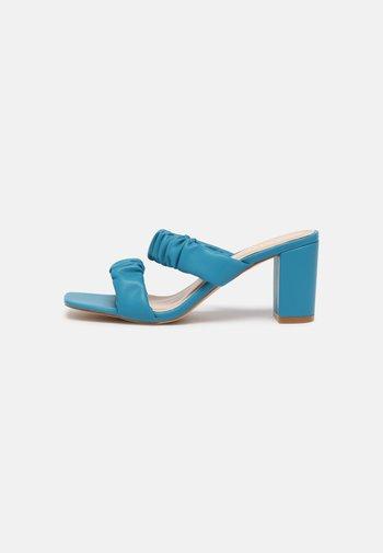 ALORAA - Heeled mules - blue