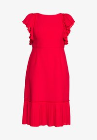 Apart - DRESS WITH VOLANTS - Vestito elegante - red - 4