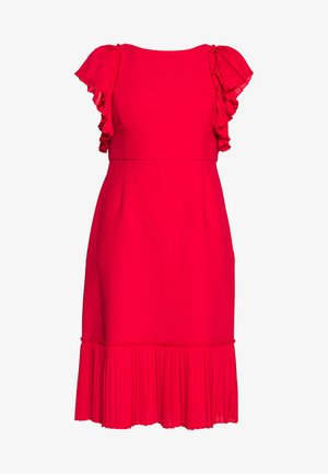 DRESS WITH VOLANTS - Robe de soirée - red