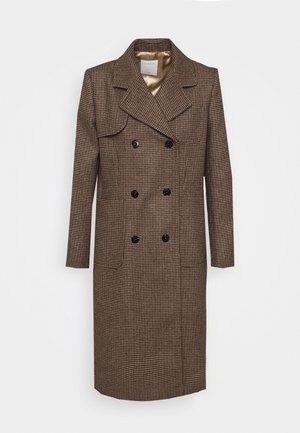 Klasický kabát - burgundy red/black