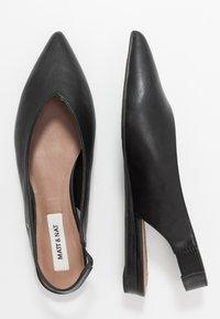 Matt & Nat - VEGAN EFFIE - Slingback ballet pumps - black - 3