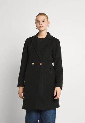 VIPOKU BUTTON COAT - Klasyczny płaszcz - black