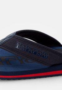 Napapijri - T-bar sandals - blue marine - 5