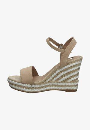 Sandalen met hoge hak - nude micro