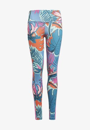 AEROREADY ALLOVER PRINT LEGGINGS - Leggings - white