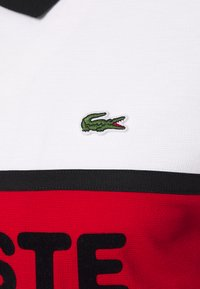 Lacoste Sport - BLOCK LOGO - Polo shirt - white/red/black - 2