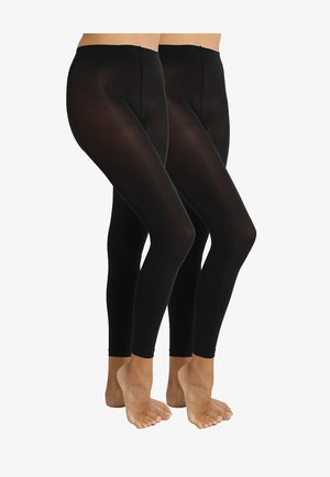 EVERYDAY 2 PACK - Leggings - Stockings - black