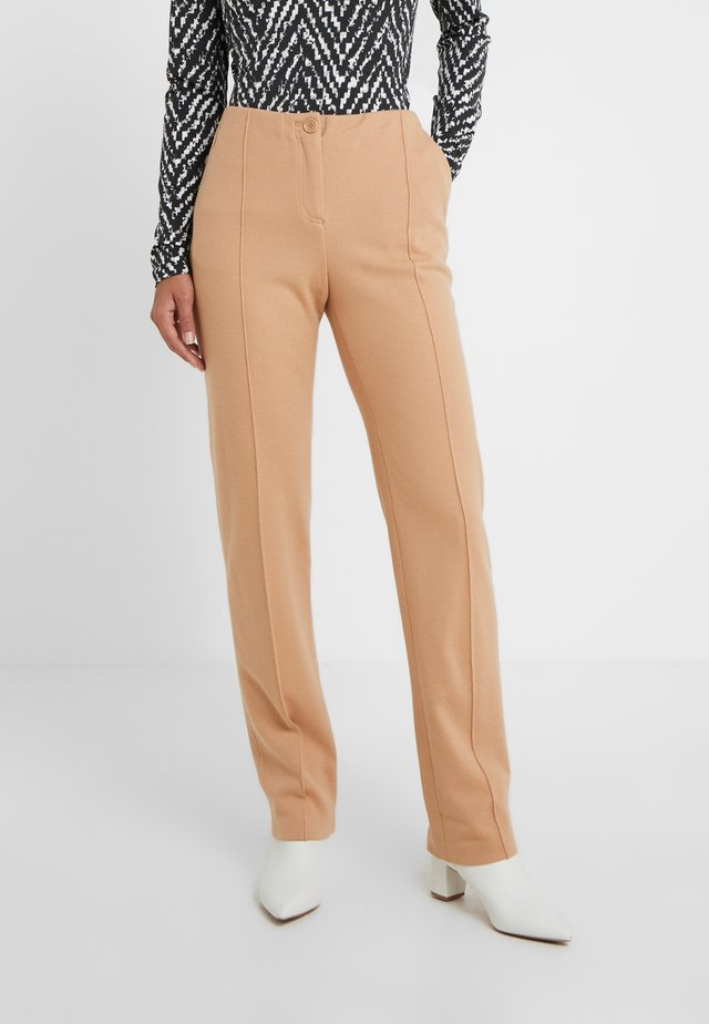 Trousers - caramel