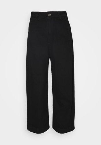 SPONGE PANTS - Džíny Relaxed Fit - black