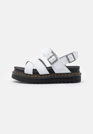 VOSS - Sandály na platformě - white hydro