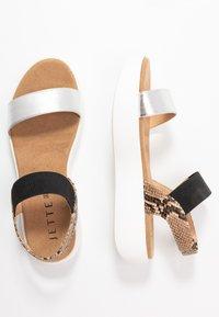 JETTE - Platform sandals - silver/rose - 3