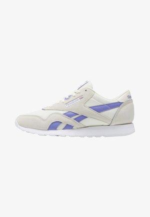 CLASSIC NYLON LEATHER SHOES - Zapatillas - white