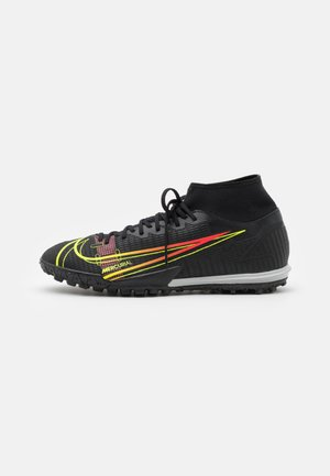 MERCURIAL 8 ACADEMY TF - Astro turf trainers - black/cyber/off noir