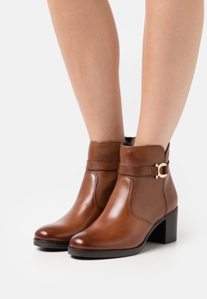 LEATHER  - Boots à talons - brown