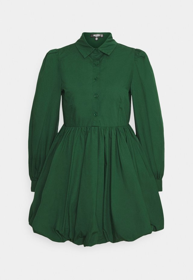 PUFF DRESS  - Abito a camicia - dark green
