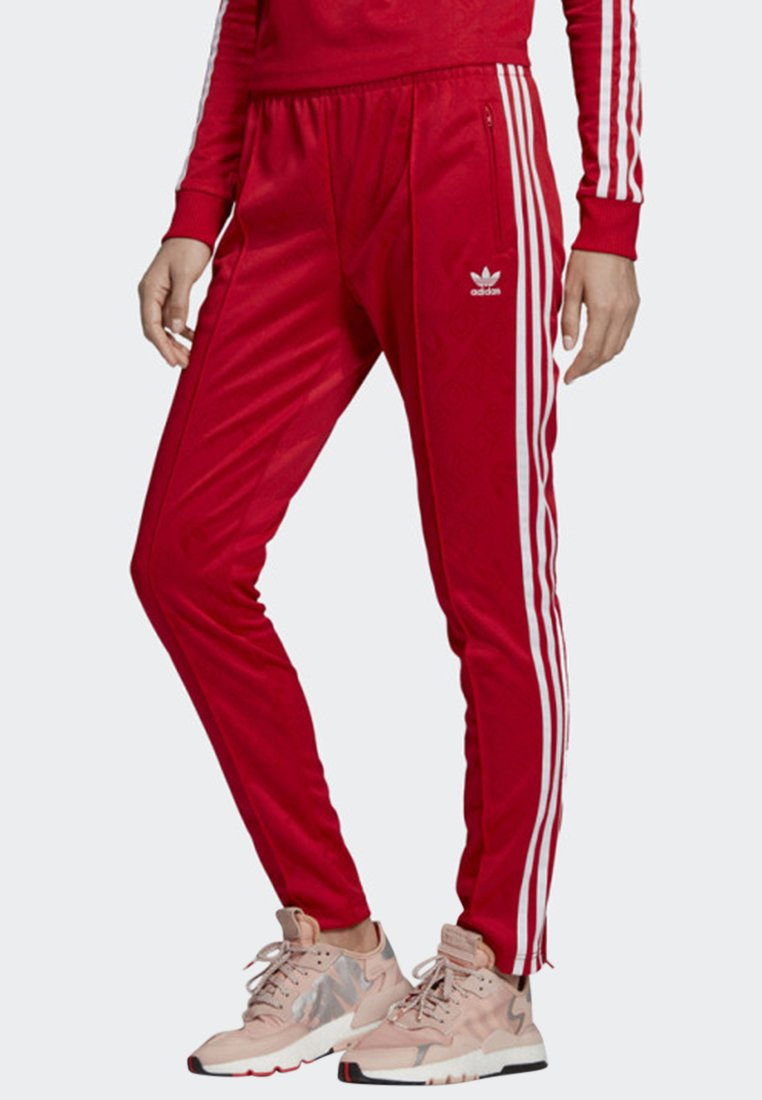 adidas Originals - SST TRACKSUIT BOTTOMS - Tracksuit bottoms - red