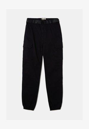HIGH WAIST  - Pantaloni cargo - black