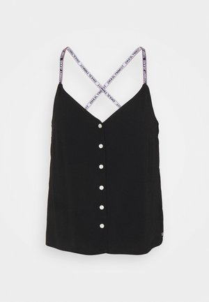 CAMI BUTTON THRU - Top - black