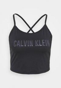 Calvin Klein Performance - CROP TANK - Débardeur - black - 0