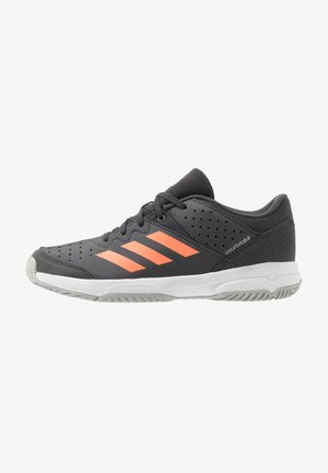 COURT STABIL UNISEX - Handball shoes - grey six/signal coral/grey two