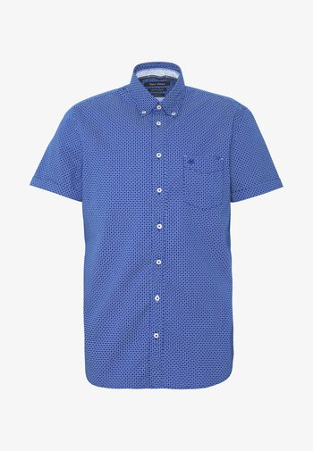 BUTTON DOWN SHORT SLEEVE TURNED UP ONE POCKET FACING AT PLACKET - Shirt - mazarine blue