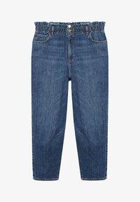 Violeta by Mango - PAPERBAG - Straight leg jeans - dunkelblau - 5