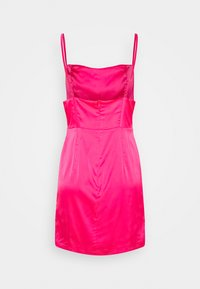 Missguided - PLEAT DETAIL STRAPPY BODYCON MINI DRESS - Cocktailkjole - hot pink - 1