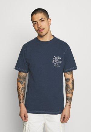 HALMA TEE - Print T-shirt - navy blue