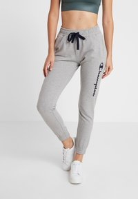 Champion - ELASTIC CUFF PANTS - Tracksuit bottoms - mottled light grey - 0
