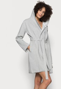 Anna Field - STRIPE FLANNEL BATHROBE  - Župan - grey/white - 3