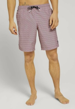 MIT REPREVE - Swimming shorts - pale pink olive palm design