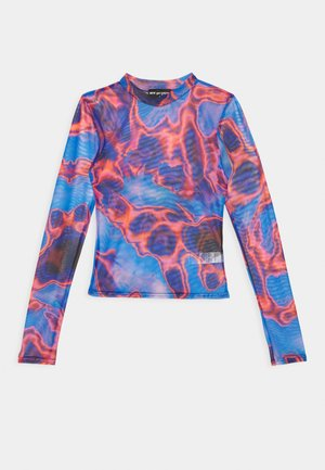HEAT MAP  - Long sleeved top - blue
