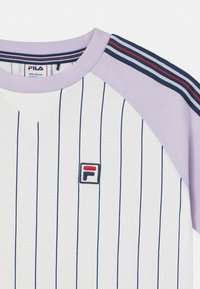 Fila - TAMMY CROPPED TAPED - Print T-shirt - bright white/pastel lilac - 2