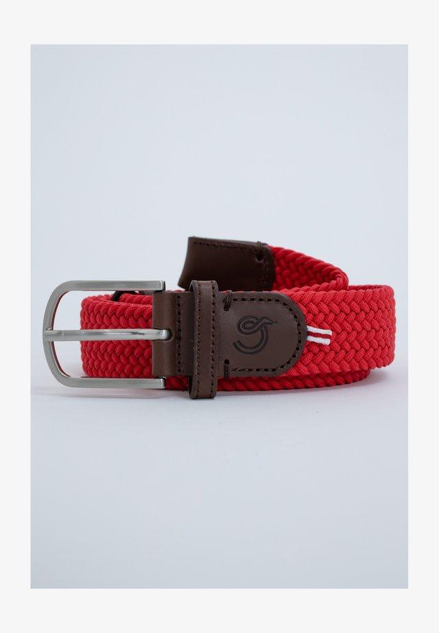 Braided belt - red