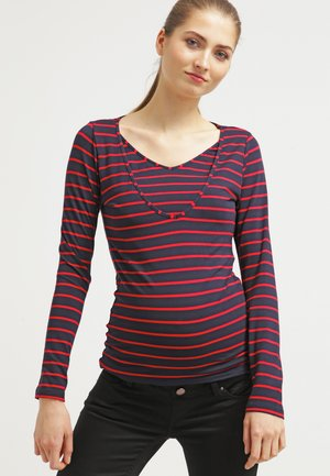 ZOE - Long sleeved top - rouge/blau