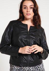 Zizzi - IMITATED JACKET - Faux leather jacket - black - 0