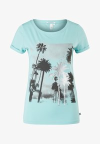 Q/S designed by - Print T-shirt - turquoise - 6